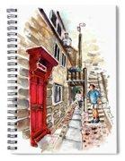 Street In Robin Hoods Bay 01 Spiral Notebook