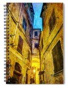 Street In Vernazza - Vintage Version Spiral Notebook