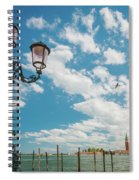 Street Lamp At Venice, Italy Spiral Notebook