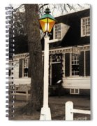 Street Lamp Spiral Notebook