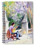 Street Musician In Pollenca Spiral Notebook