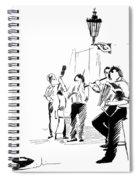 Street Musicians In Prague In The Czech Republic 02 Spiral Notebook