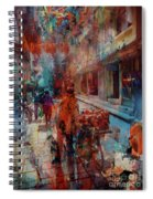 Street Of Nepal Colored  Spiral Notebook