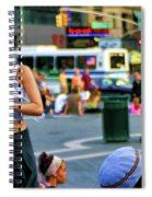 Street Photography Nyc Paint  Spiral Notebook