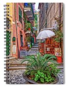 Street Scene Monterosso Italy Dsc02470 Spiral Notebook