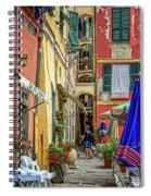 Street Scene Vernazza Italy Dsc02651 Spiral Notebook