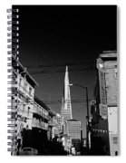 Street Scene With Transamerica Pyramid From Chinatown  Spiral Notebook