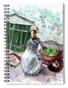 Street Seller In Helsingor Spiral Notebook