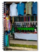Street Shops At Ataco Spiral Notebook