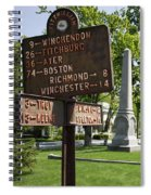 Street Sign In Fitzwilliam, New Hampshire Spiral Notebook