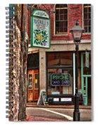 Street Signs Portland Maine Spiral Notebook