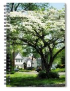 Street With Dogwood Spiral Notebook