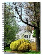 Street With Forsythia Spiral Notebook