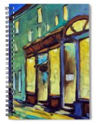 Streets At Night Spiral Notebook