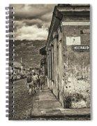 Streets Of Antigua - Guatemala Spiral Notebook