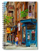 Streets Of Montreal Over 500 Prints Available By Montreal Cityscene Specialist Carole Spandau Spiral Notebook