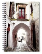 Streets Of Ostuni Spiral Notebook