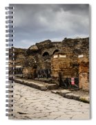 Streets Of Pompeii - 1a Spiral Notebook