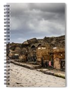 Streets Of Pompeii Spiral Notebook