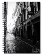 Streets Of Rome 2 Black And White Spiral Notebook