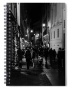 Streets Of Rome At Night  Spiral Notebook
