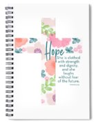 Strength And Dignity Cross- Art By Linda Woods Spiral Notebook