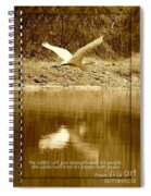 Strength And Peace Spiral Notebook