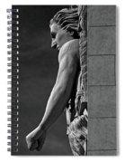Strength B-w Spiral Notebook