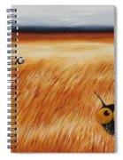 Stressie Cat And Crows In The Hay Fields Spiral Notebook