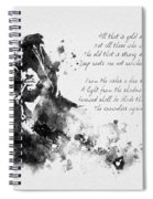 Strider Black And White Spiral Notebook