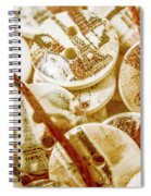 String Of Buttons Spiral Notebook