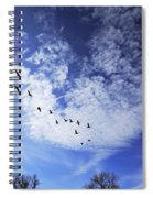 String Of Geese Spiral Notebook