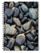 Striped Pebbles Spiral Notebook