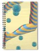 Striped Stockings Spiral Notebook