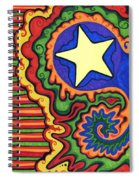 Stripes And Star Spiral Notebook