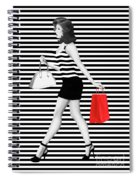 Stripes In Fashion Spiral Notebook