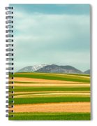 Stripes Of Crops Spiral Notebook