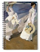 Strolling Along The Seashore Spiral Notebook
