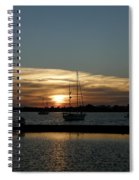 Strolling In The Sunset Spiral Notebook