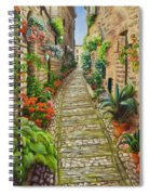 Strolling Spello, Italy Spiral Notebook