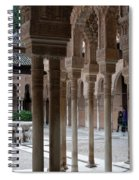 Strolling The Courtyard Of The Lions Spiral Notebook