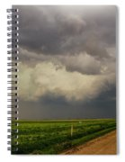 Strong Storms In South Central Nebraska 003 Spiral Notebook
