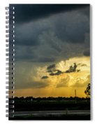 Strong Storms In South Central Nebraska 004 Spiral Notebook