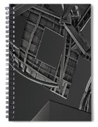 Structure - Center For Brain Health - Las Vegas - Black And White Spiral Notebook