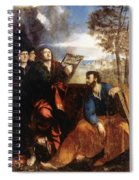 Sts John And Bartholomew With Donors 1527 Spiral Notebook