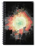 Stuart And Amber Bike Scorched Black Jagged Topo Spiral Notebook