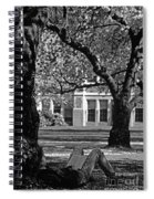Student Reading Under Tree Spiral Notebook