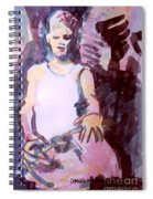 Student With Clay Spiral Notebook