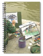 Students Painting, China Spiral Notebook