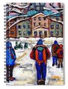 L'art De Mcgill University Tableaux A Vendre Montreal Art For Sale Petits Formats Mcgill Paintings  Spiral Notebook